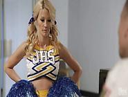 Super Sexy Blond-Haired Cheerleader Jessica Drake