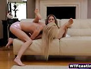 Sexy Blonde Nubiles Enjoy Fingering At Casting
