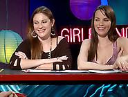 Beautiful Sapphic Girls Talking About Lesbian Sex On A Radio Sho