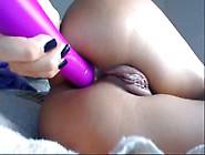Big Dildo In Her Juicy Ass