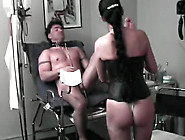 Dominant Corset Girl Strapon Fucks His Ass