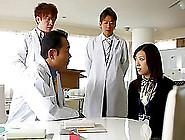 Randy Housewife Examined By A Group Of Hot Doctors