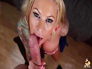 Slutty Blonde Big Ass Tattooed Milf Lolly Ink Takes A Deep Doggy