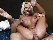 Bare Boned Chick With Huge Boobies Rides Big Cock Reverse
