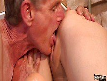 Old Cleaner Fucked Boss Teen Daughter After Licking Wet Pussy G