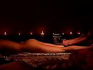 Naked Ebony Babe Gets Nice Massaging Act By A Guy