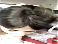 Giving A Blowjob In Car To His Big Dick Girl Enjoys Outdoor Sex