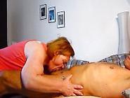 Woman Licks Man Ass And Sucks Pierced Penis Out Empty!