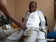 Grampa Gets His Dick Taken Care Of.  Anybody Know Who He Is?