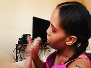 Pigtailed Black Girl With Great Handjob Talents Begs For A Huge