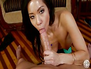 Big Cock Gets Sensual Head From A Slut On Her Knees