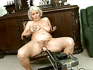 Perverted Granny Is Fucked With Sex Machine While Sucking Black