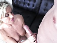 Stacked Blonde Mom Payton Hall Jerks Off A Big Pole And Rubs Her