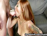 Tattooed Chick Scarlett Pain Crazy Cock Sucking Skills For A Mes