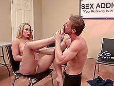 Aj Applegate Has Her Feet Sucked And Cooch Slammed