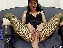Formidable Plowing Game With A Naughty Chick In Fishnets