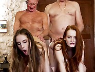 Old Guys Fucking And Sharing Two Gorgeous Babes
