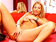 Naughty Bigtitted Blonde Fingering Her Pink Pussy