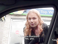 Russian Teen Gets Picked Up And Gets Fucked For A Free Ride