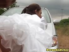 Hitchhiking Runaway Bride Cocksucking Driver