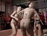 Mud Fight Around An Audience