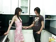 Emo Boy Fucks His Girlfriend In The Kitchen