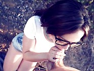 Teen Beauty With Glasses Fucking In The Country