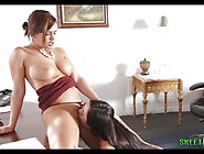Boss Lady Spanks Her Big Booty Secretary Keisha Grey And Karlee