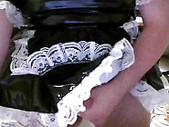 Diapered Sissy Maid Masturbating