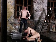 Male Nazi Bondage Gay Chained To The Warehouse Floor And Una