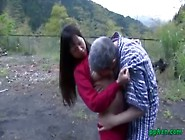 Asian Girl Getting Her Pussy Licked And Fucked By Old Man Cum To