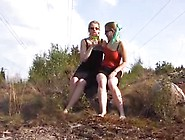 Girls Kiss And Piss
