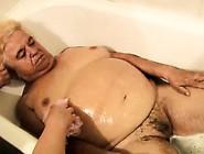 The Nurse Bathes Old Fat Granny In Bathroom