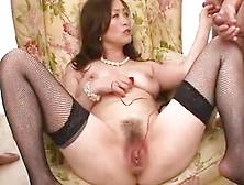 Pearl Wearing Miyama Ranko Plays With Her Milf Pussy