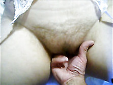 Shagging Wife's Hairy Pussy In A Missionary Position