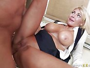 Title: Blonde darling Kayla Kayden soothed by a sexy masseur