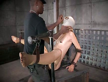 Black Master Is Conducting Experiments On Nude Sex-Slave In Gas