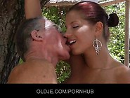 Horny Old Guy Is Fucking Angel Rivas While His Best Friend Is Wa