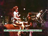 Alexa Loren Busty Bruette Woman Having Fun On The Bull