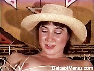 Retro & Hairy Teen Cowgirl Has Sex,  1970S