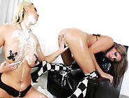 Ass Squirting Milky Lesbo