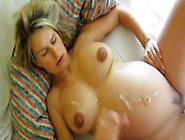 Pregnant Wife Fucked With Cum On Belly