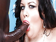 Bbw Desiree Divine Interracial Blowjob