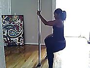 Maliah Michel Working The Stripper Pole