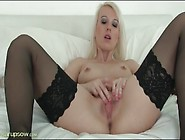 Small Tits Solo Mom In Stockings Masturbates