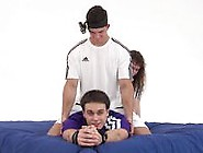 Ukranian Guy Resists Being Tied And Tickled With Some Success