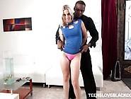 Sexy Blonde Teen Niki Snow Rammed By A Black Dick