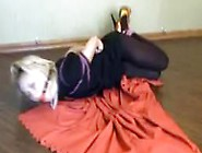 Hogtied And Ballgagged On The Floor