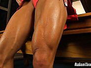 Female Bodybuilder With Huge Clits Fucks Herself To Orgasm