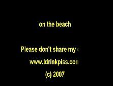 On The Beach Drinking Own Pee